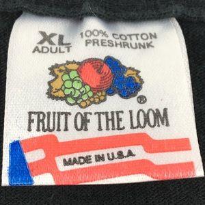Fruit of the Loom Shirts - VTG 1993 Bret 'Hitman' Hart Graphic Single Stitch